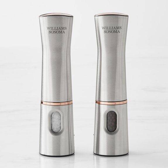 Williams Sonoma Rechargeable Electric Salt Pepper Mill Williams Sonoma