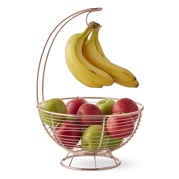 Fruit Basket with Banana Hanger Hook Tree Fruit Bowl Basket Stand Large