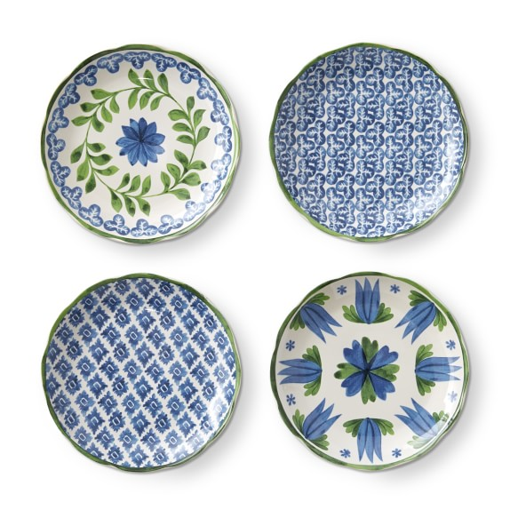 Williams Sonoma Aerin Appetizer Plates Set of 4 New with tags