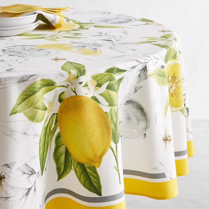 Printed Abstract Tablecloth Leaf Yellow Custom Printed Abstract Leaf Tablecloth Tablecloths Made to order!