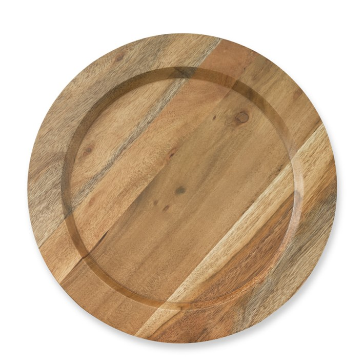 Providence Wood Charger Plate Williams Sonoma