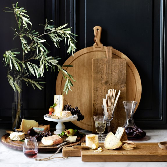 Large Cheese Charcuterie Board Solid Oak Rabbit
