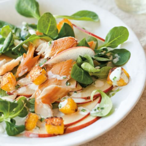 Smoked Trout And Apple Salad With Polenta Croutons Williams Sonoma