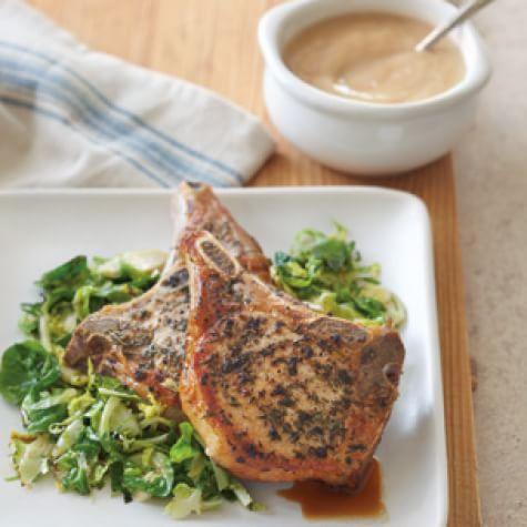 Pork Chops With Horseradish Applesauce Williams Sonoma