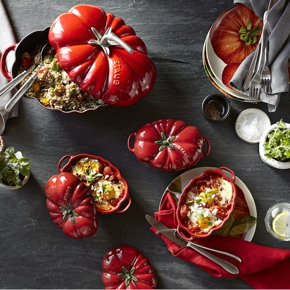 Staub Ceramic Stoneware Tomato Cocotte Dutch Oven Williams Sonoma