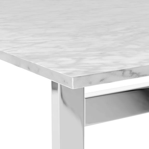 Mercer Rectangular Marble Top Dining Table Williams Sonoma