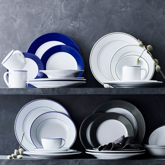 Apilco Tradition Blue Banded Porcelain Dinnerware Sets Williams