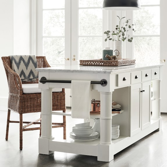 Barrelson Kitchen Island With Marble Top Williams Sonoma