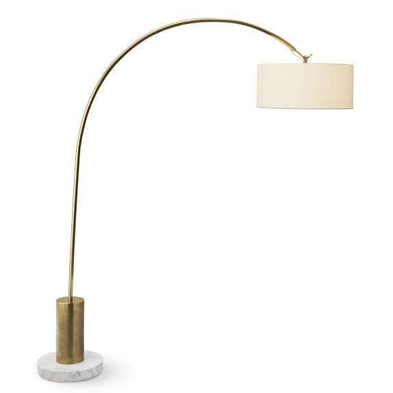 Arc Floor Lamp Antique Brass Williams Sonoma