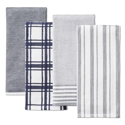 Williams Sonoma Multi-Pack Absorbent Towels, Set of 4, Navy Blue