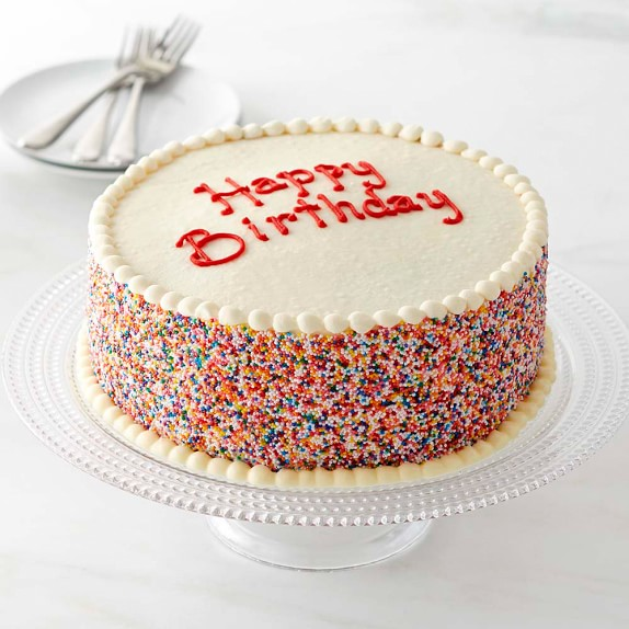 Magnificent Happy Birthday Layer Cake Online Baked Goods Williams Sonoma Funny Birthday Cards Online Sheoxdamsfinfo