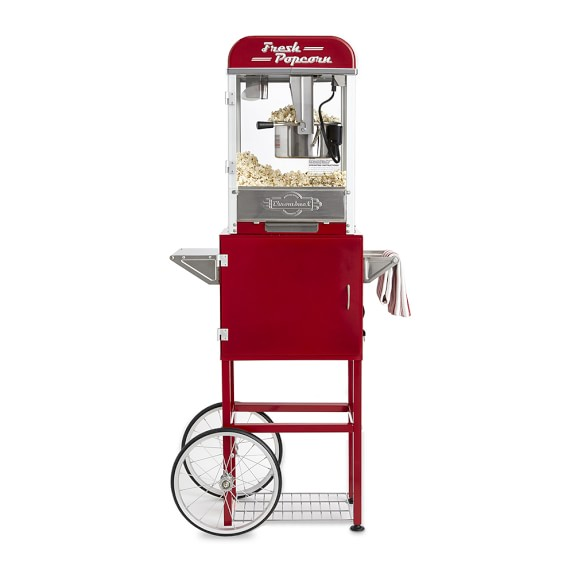 Throwback Movie Theatre Popcorn Machine With Cart Williams Sonoma