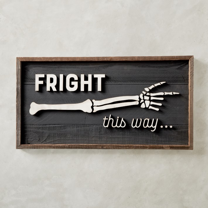 fright this way halloween sign decor