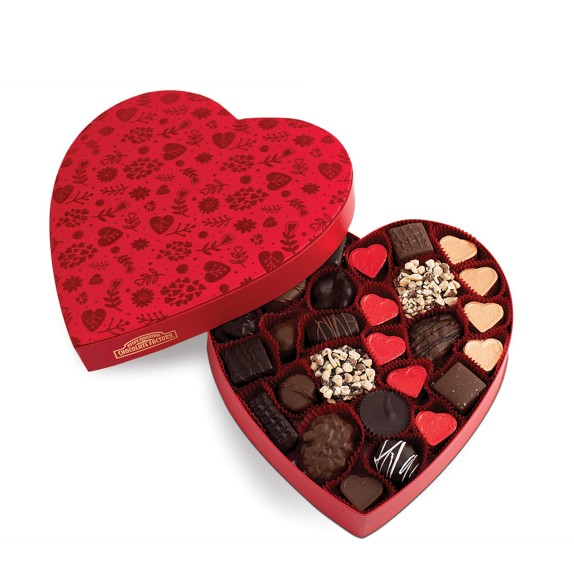 Valentine S Day Heart Chocolate Box Gourmet Chocolate Williams Sonoma
