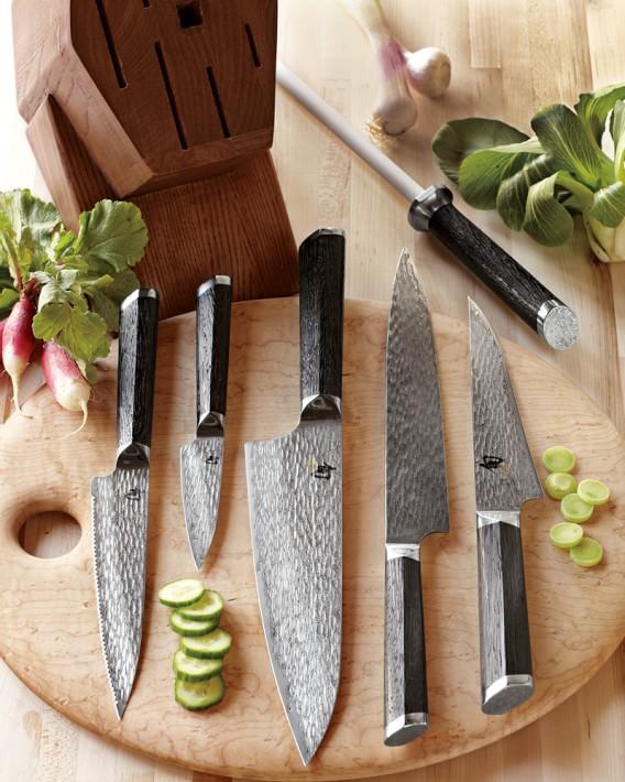 Shun Fuji 7 Piece Knife Block Set Williams Sonoma