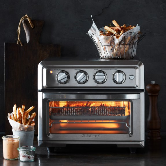 Black Stainless Cuisinart TOA-60 Air Fryer Toaster Oven