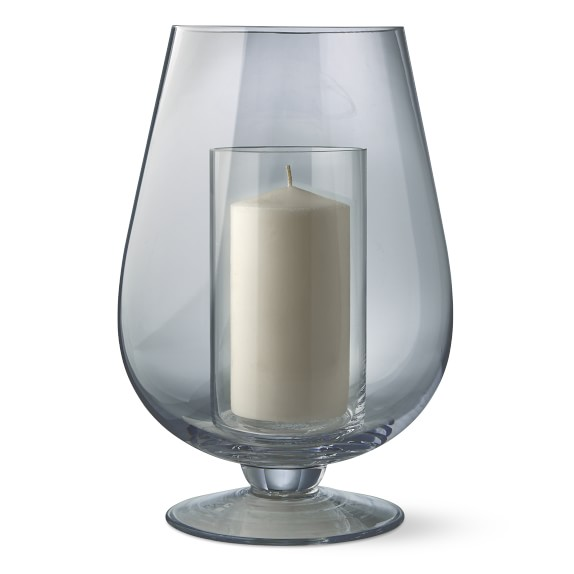 Glass Hurricane With Pillar Candle Holder Williams Sonoma