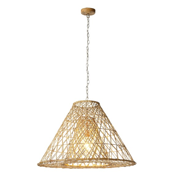 Havana Rattan Cone Pendant Light Williams Sonoma