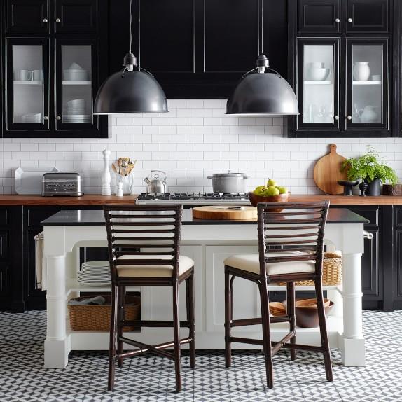 Barrelson Black Granite Top Kitchen Island Williams Sonoma