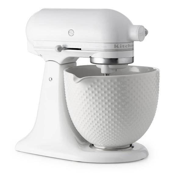 Kitchenaid Artisan White Mixer With Hobnail Bowl Williams Sonoma