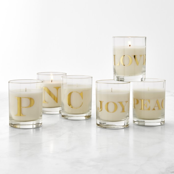 Williams Sonoma Monogram Candle Williams Sonoma