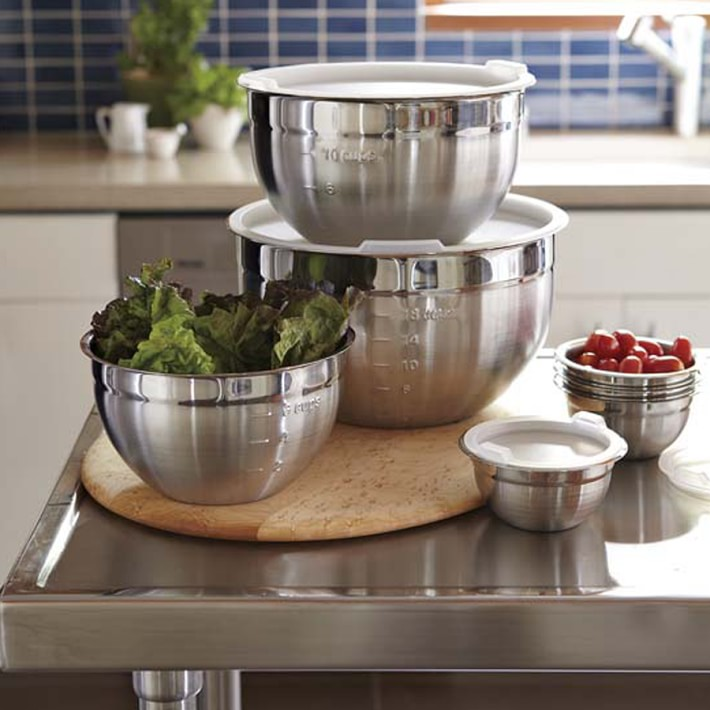 Stainless Steel Mixing Bowls With Lids Set Of 3 Williams Sonoma
