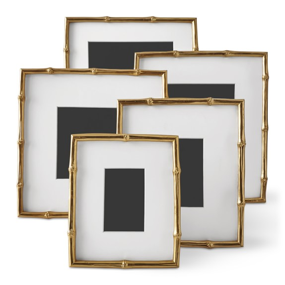 Aerin Gilded Bamboo Gallery Wall Frame Williams Sonoma