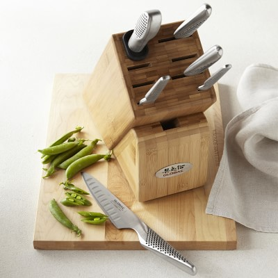 Global Classic 7 Piece Takashi Wooden Knife Block Set