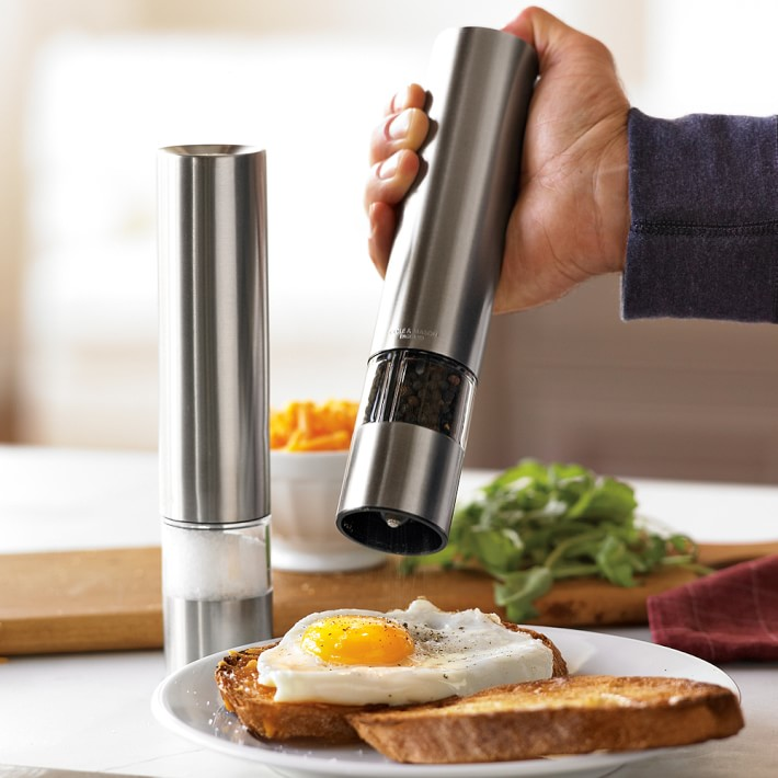 Cole & Mason Electric Salt & Pepper Grinders | Williams Sonoma