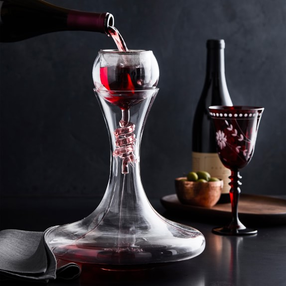 Twister Wine Aerator Decanter With Stand Set Williams Sonoma
