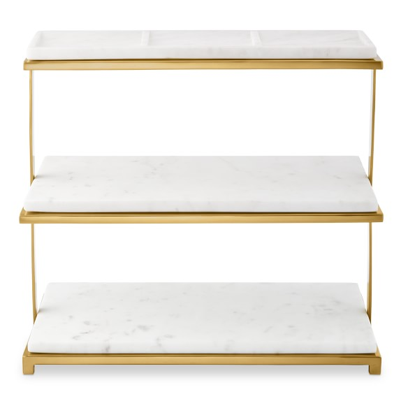 Marble Brass 3 Tiered Stand Williams Sonoma