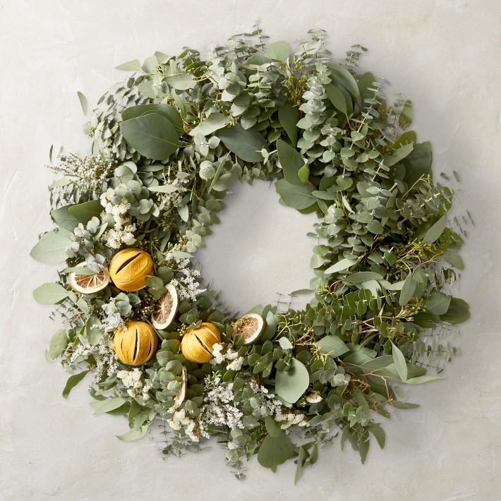 Eucalyptus Orange and Lime Wreath