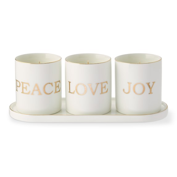 Peace Love Joy Votive Candle Gift Set Williams Sonoma