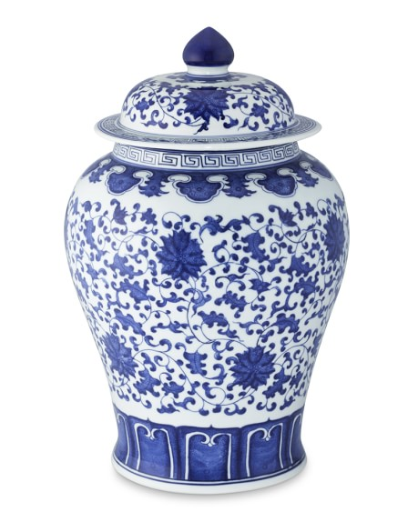Blue White Decorative Ginger Jar With Lid 16 Williams Sonoma