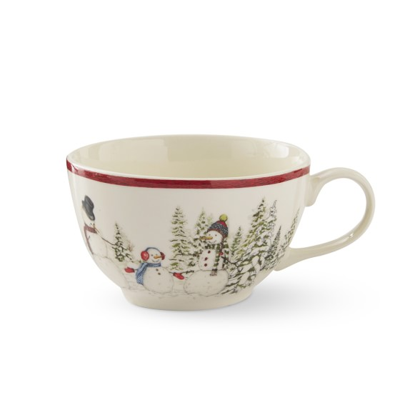 Snowman Latte Coffee Mugs Williams Sonoma