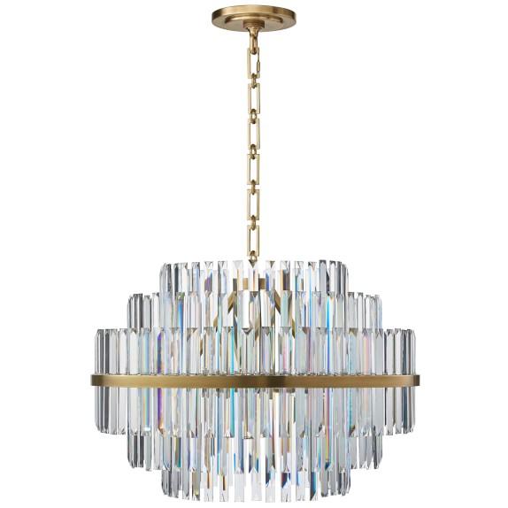 Vienna Round Crystal Chandelier Williams Sonoma