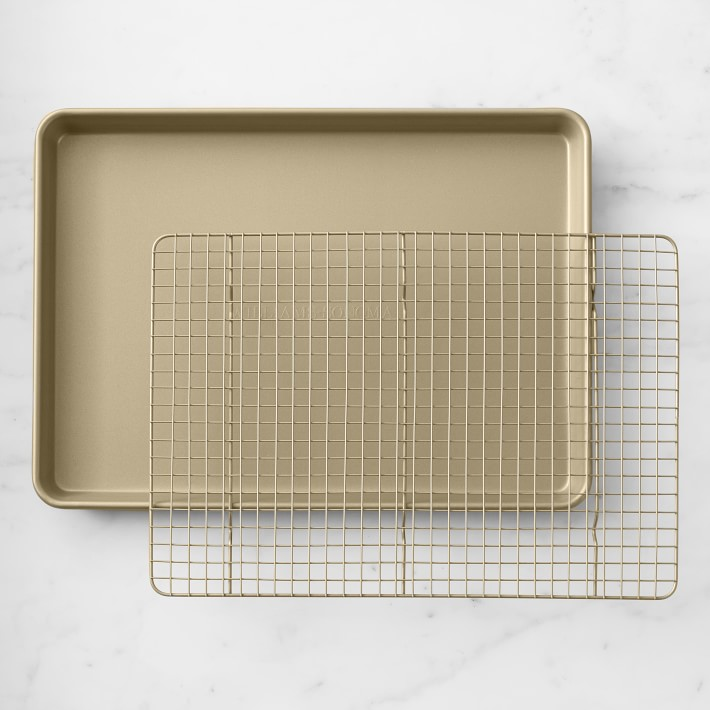 Williams Sonoma Goldtouch® Non-Corrugated Half Sheet Pan with Rack