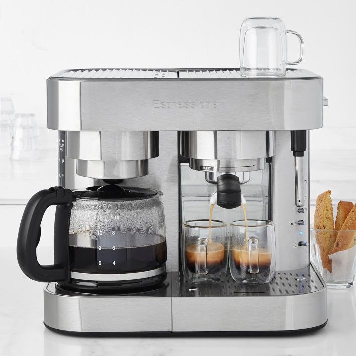 Stainless Steel Coffee Tea Latte Pitcher Pot Expresso Maker Kitchen w// Lid
