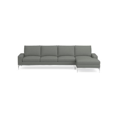 Lucca Sectional Right 2 Piece L Shape Sofa With Chaise