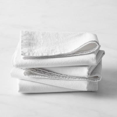 White Flour Sack Tea Towels Set Of 4 Williams Sonoma