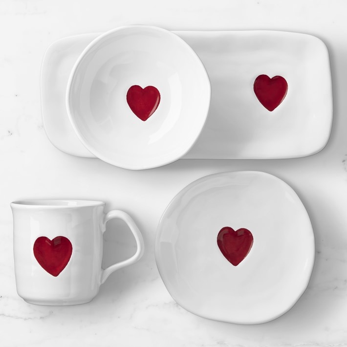 Valentine's Day Red Heart Dinnerware Collection