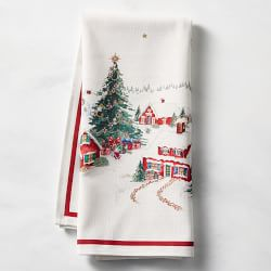 Holiday Time 2 Pack Hand Towels Santa With Presents /& Striped NEW