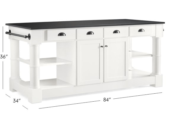 Barrelson Black Granite Top Kitchen Island Williams Sonoma