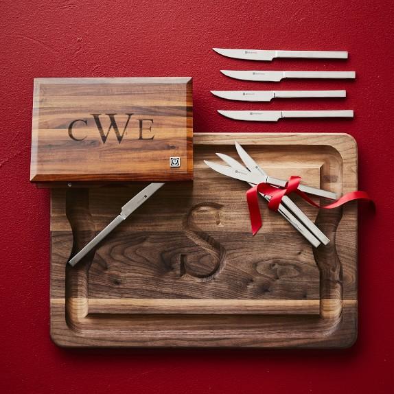 Monogram Initial Personalized Cutting board Monogrammed Custom Engraved White Oak -21012-CUTB-004