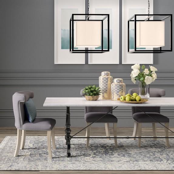La Coupole Rectangular Iron Bistro Table Kitchen Table Williams Sonoma