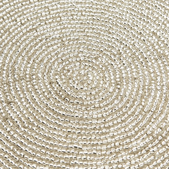 Silver Beaded Placemat Williams Sonoma