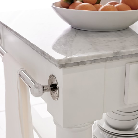 Barrelson Marble Top Kitchen Island Williams Sonoma