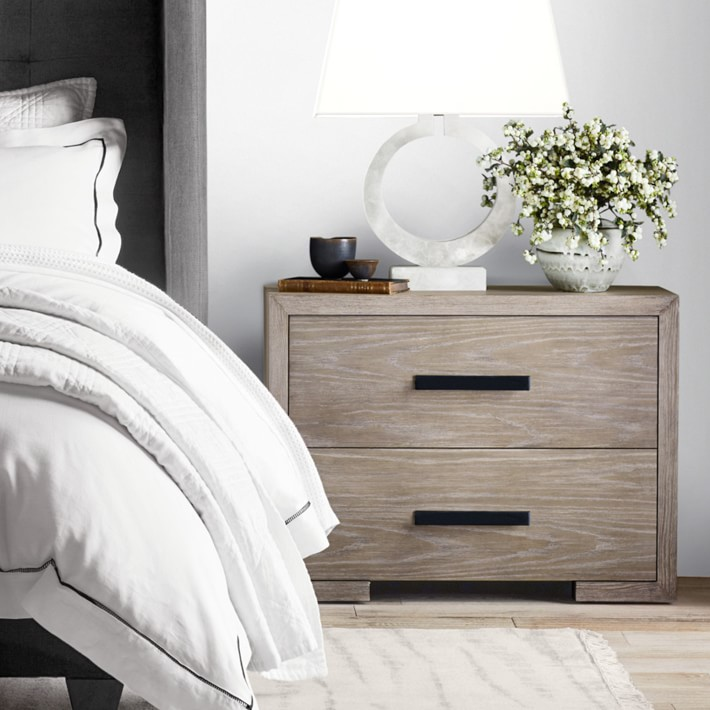 Madison 2 Drawer Nightstand Bedside Table Williams Sonoma