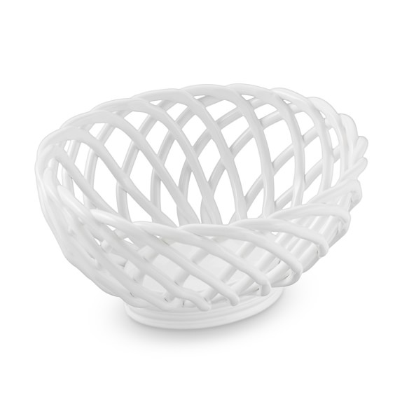 Ceramic Woven Bread Basket Williams Sonoma