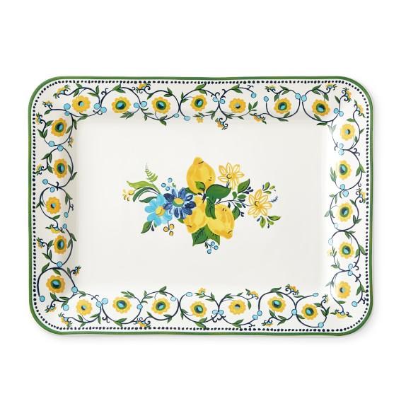 - Alpine Floral Williams Sonoma  Porcelain Aerin Serving Platter